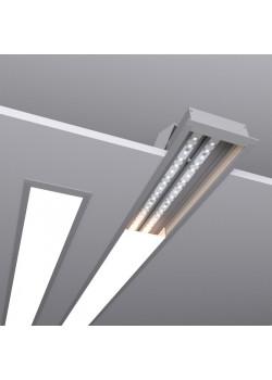 Встраиваемый линейный светодиодный светильник SUNLine V - 485х88х32мм, 24Вт, 2184Лм, IP20